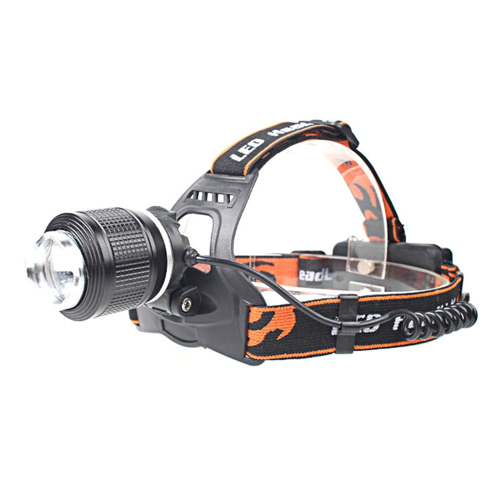 LED Headlamp Portable Zoomable Headlight Head Torch Flashlight Head Lamp By 18650 Battery For Fishing Hunting Outdoor Lighting