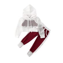 2020 Kids Baby Girl Summer Outfits Set Mesh Hooded Coat+Vest