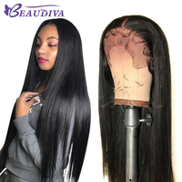Straight Lace Frontal Human Hair Wigs 13*4 Pre Plucked Human Hair Wigs with Baby Hair Lace Wig BEAUDIVA Remy Peruvian Hair