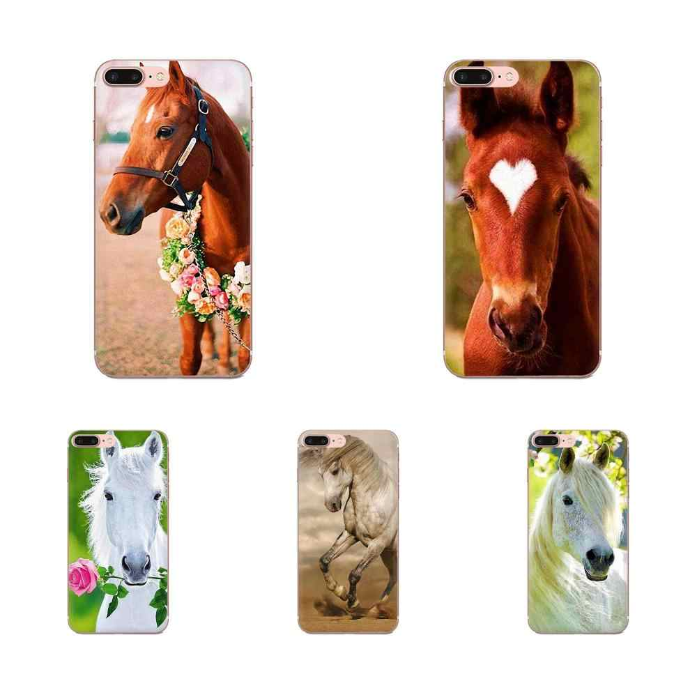 TPU souple De Protection Cheval Imprimé Animal Pour Huawei Honor 4C 5A 5C 5X6 6A 6X7 7A 7C 7X8 8C 8S 9 10 10i 20 20i Lite Pro