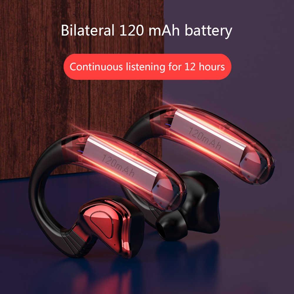 Q9S TWS Bluetooth V5.0 беспроводные bluetooth-наушники спортивные Hifi Близнецы Беспроводные наушники с ушным крючком для Android IOS музыка
