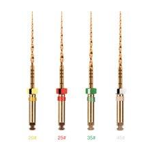 1 set (4 stück) Dental Endo Rotary Dateien gold für Wurzelkanalaufbereitung Motor Verwendung Niti gold dateien
