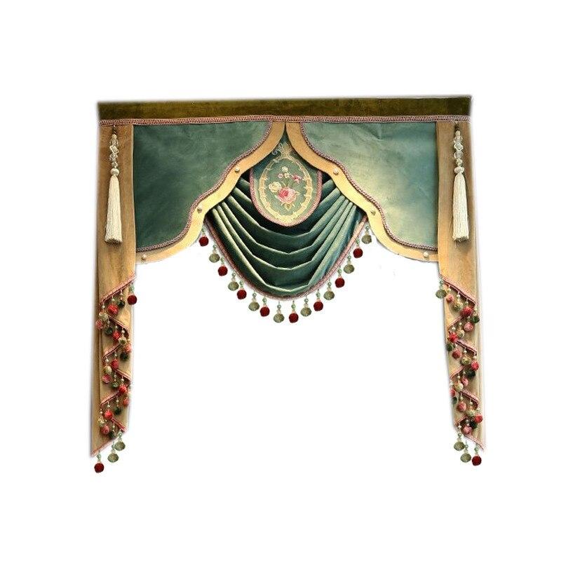 Европейский роскошный заказной подвес, используемый для штор на верхней части (купить valance выделенная Ссылка/не включая тканевый занавес и тюль)