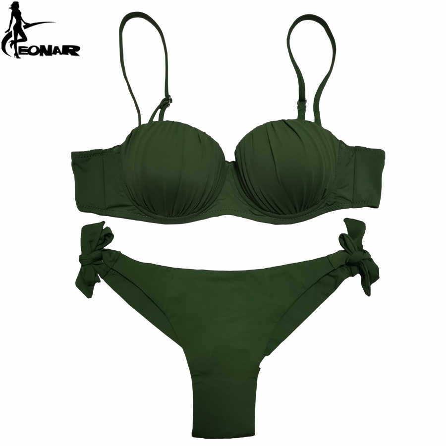 EONAR kadınlar bikini 2020 üst dalgalı kat tasarım Push Up mayo brezilyalı kesim alt bikini seti ayarlanabilir mayo mayo
