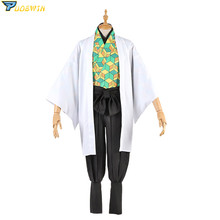 Anime Demon Slayer Kimetsu no Yaiba Sabito Cosplay Costume Kimono Uniforms Halloween Carnaval Party