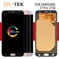Srjtek AMOLED For SAMSUNG Galaxy J7 Pro Display J730 Display Touch Digitizer Sensor With Frame J730 Glass J7 Pro 2017 J730F LCD