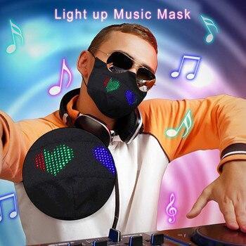 Máscara de Halloween luminosa con aplicación LED de fibra óptica, máscara luminosa,...