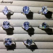 Choucong, массивное кольцо, различные режущие AAAAA cz 925 пробы, серебряные обручальные кольца для мужчин и женщин, ювелирные изделия