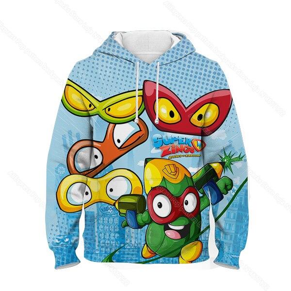 Kids 3D Print Super Zings Hoodie Autumn Winter Children Superzings 6 Series Sweatshirt Sudadera Boy Girl Cartoon Anime Pullover 16