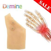 1 шт силиконовый гель магнитная терапия BracersThumb Поддержка Перчатки артрит давление корректор перчатки