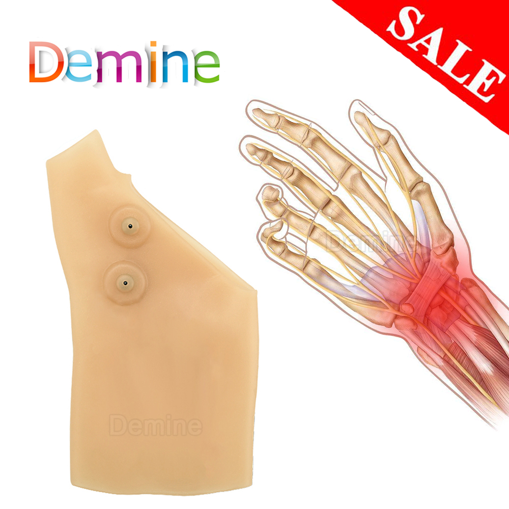 1pcs Silicone Gel Magnetic Therapy BracersThumb Support Gloves Arthritis Pressure Corrector Gloves