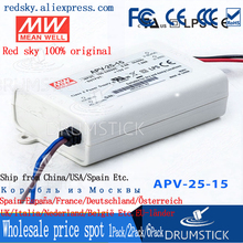 цена на [XI] Hot! MEAN WELL original APV-25-15 15V 1.68A meanwell APV-25 15V 25.2W Single Output LED Switching Power Supply