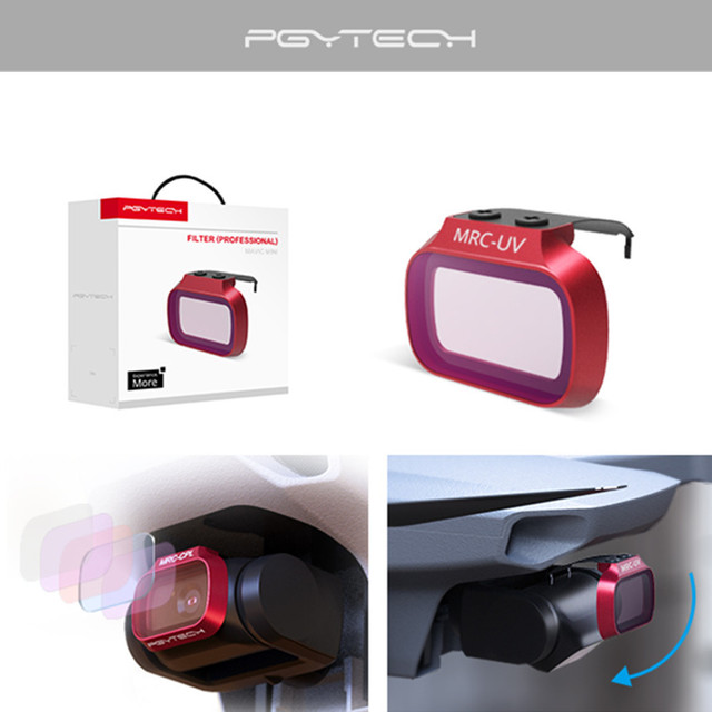 Pgytech dji mavic mini uv nd ND CPL cpl câmera filtro de lente profissional para dji mavic mini/dji mini 2 zangão acessórios