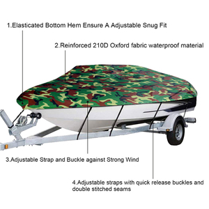 Image 3 - Boat Cover All weather Protection Full Covers with Adjustable Strip and Buckle Camouflage Style Yacht Outdoor Protection Cover