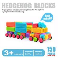 150pcs Bristle Shape 3d Building Blocks Tiles Construction Playboards Toys For Children Gifts Kids Early Educationa Blocks Toys