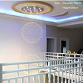 Treppe Foyer Anhänger Licht Beleuchtung Moderne Kristall Anhänger Licht Sphärische Kristall Anhänger Licht Enthalten Lampen