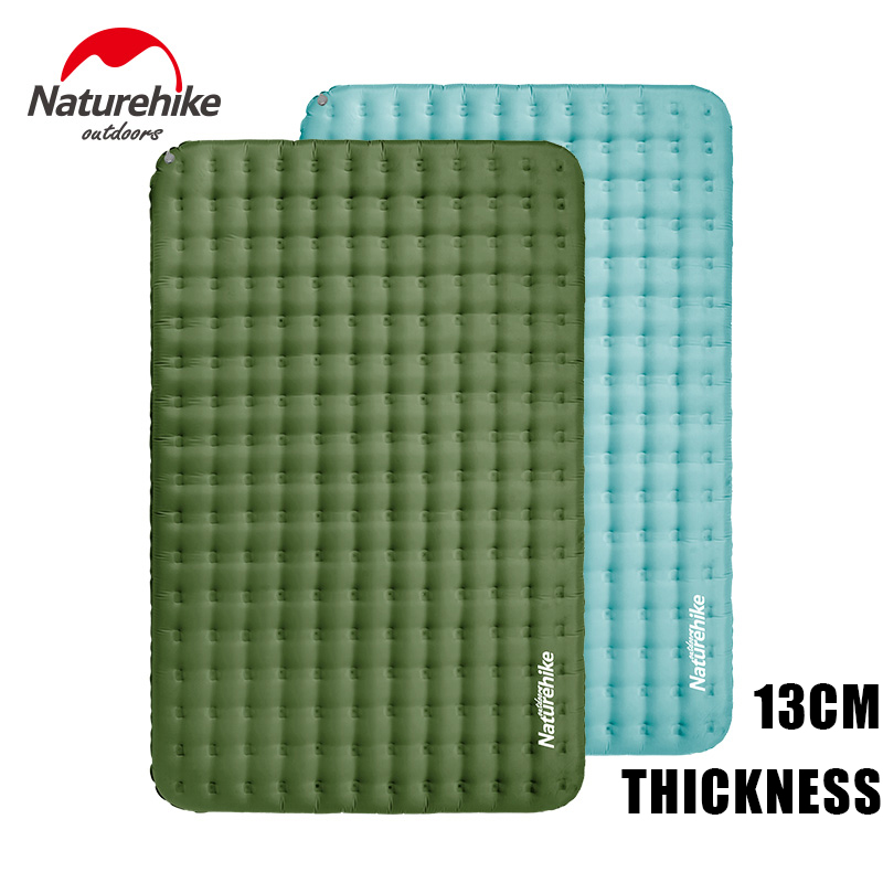 Naturehike TPU 13CM Thicken Camping Air Bed Ultralight Double Inflatable Mat Waterproof Portable Inflatable Travel Tent Pad