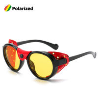 JackJad 2020 Модные Винтажные Солнцезащитные очки в стиле стимпанк, поляризационные солнцезащитные очки с кожаным боковым щитом, фирменный диза...