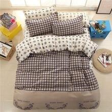 4Pcs Bedding Set Cotton Print Cover Lattice Flower Pillowcase Fitted Bed Sheet Decoration Multicolor High-Grade Duvet Cover Sets недорого