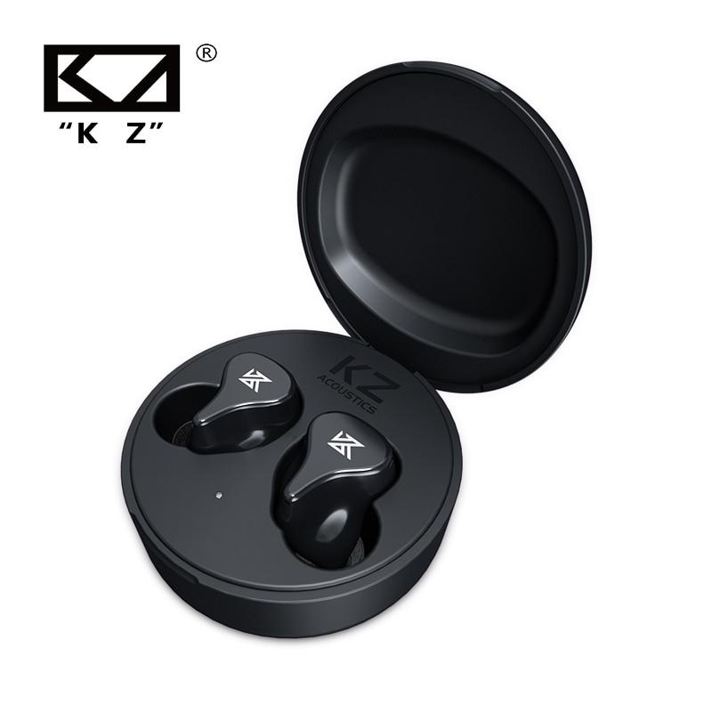 Kz z1 pro bluetooth 5.2 fones de ouvido tws verdadeiro jogo sem fio toque controle cancelamento ruído esporte para edx zsx s1 s2