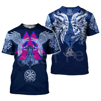Tessffel NewFashion Vikings Symbol Tattoo Viking Warriors Harajuku Unisex 3DPrint Short Sleeve Streetwear T-shirts Men Women s-1 2