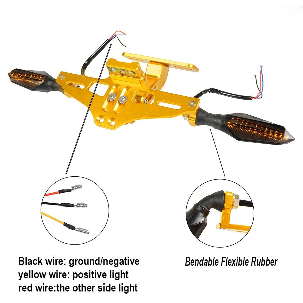 Мотоцикл номерной знак рамка держатель кронштейн с светодиодный указатель поворота мигалка для Honda CBR600 F3 F4 F4I CBR1000 RR
