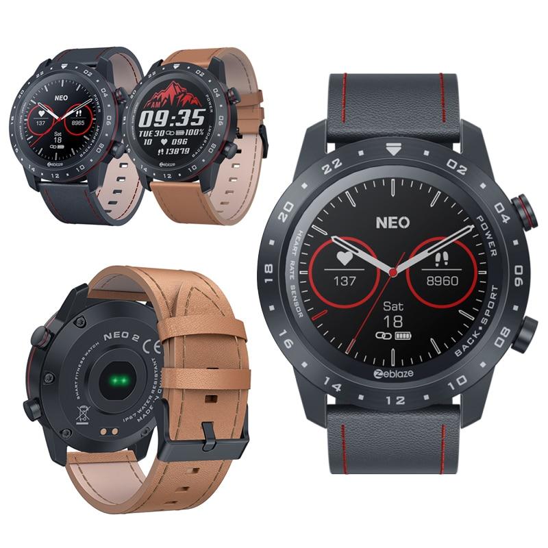 2020 Zeblaze NEO2 Smart Watch Calorie Di Monitoraggio Watch   Fitness Waterproof Heart Rate Blood Pressure Pedometer
