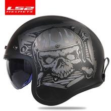 LS2 スピットファイアヴィンテージヘルメットオープンフェイスファッションデザインレトロジェットハーフヘルメット LS2 OF599 casque moto バブルバイザーバックル