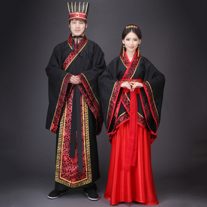 Chinese Ancient Clothes Hanfu Cosplay outfit for Men and Women Adults Halloween Costumes for Couples(China)