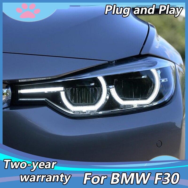 Автомобильный Стайлинг для BMW 3 серии F30 F35, светодиодный светильник s 2013-2015 с проектором линз с двойным лучом, светодиодный Поворотный Светил...