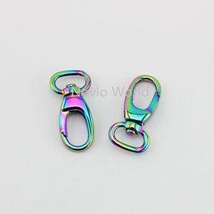 Image 3 - 10 50 個 7 色 13*37 ミリメートル小さなトリガースナップフッククラスプメタルクリップスイベル犬の鎖バッグスモールハンドバッグ財布調整ストラップフック