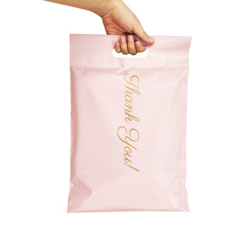 50Pcs/Lot Mail Bags Printed Poly Mailer Packaging Envelopes With Self Seal Courier Storage Bags Clothes Mailers With Handle