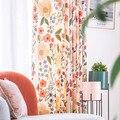 RZCortinas занавески для гостиной плотные шенилл занавески с цветочным принтом портьеры для спальни роскошные занавески s домашний декор