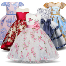 цены Kids Dress For Girls Dresses Summer Tutu Clothes Wedding Events Flower Girl Dress Birthday Party Costumes Children Clothing 3-8T