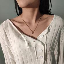 Классические простые металлические ожерелья подвески с буквенным