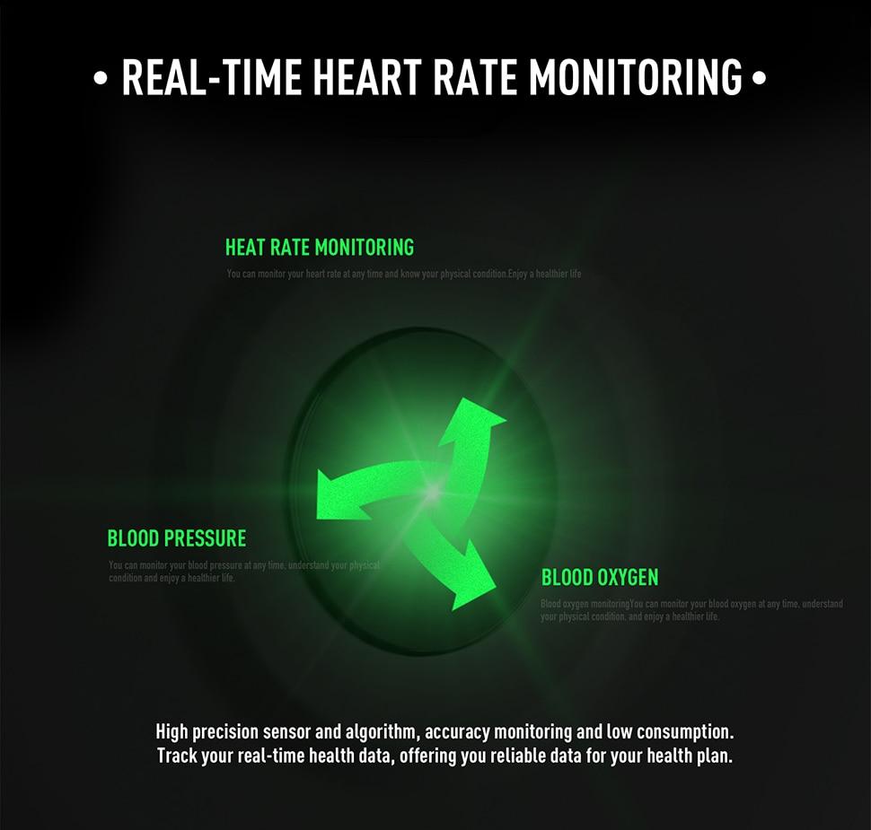 Montre intelligente Sport fréquence cardiaque 2