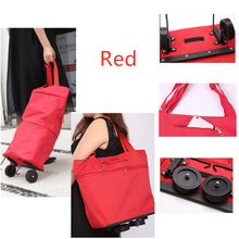 Модная многоцелевая Тележка для покупок, ручная сумка, складная сумка для буксировки, двойная хозяйственная сумка на колесах, трейлер, купить Сумка для овощей