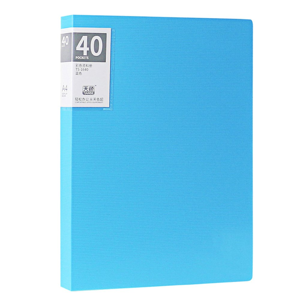 TIANSE Multilayer File Folder A4 Insert Loose Leaf Book Colorful Student Music Book Folder Data Book 40 Pages
