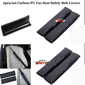 Wholesale 10pari/set Car seat belts padding covers PU FOR BMW AUDI SKODA BENZ TOYOTA Car Carbon fiber Seat Safety Belt Cover