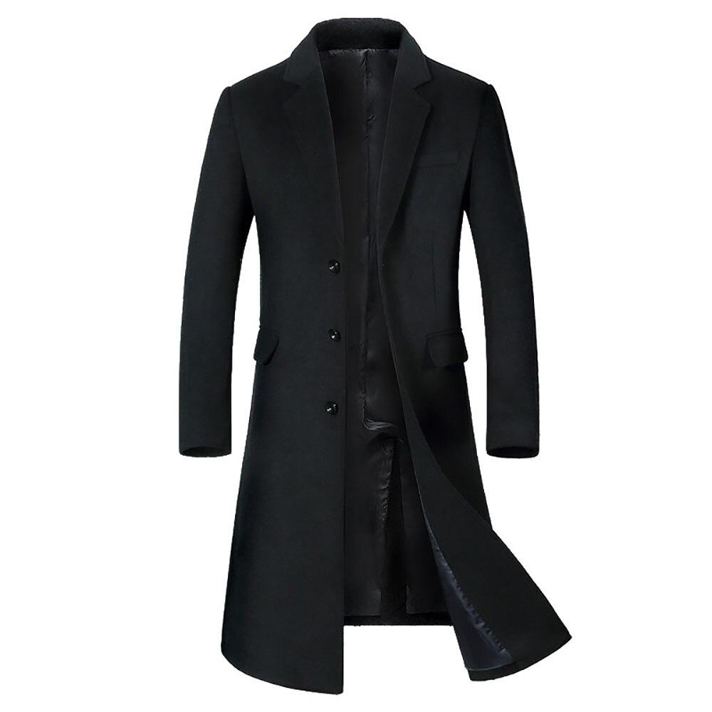 A Long Jacket Below The Knee,Men's Overcoat,Men's Coat Windbreaker,Men Coats,Wool Coat Men ,Long Coat Men