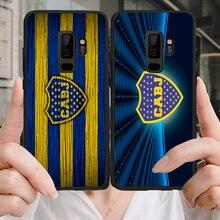 Phone Case Salvio For Samsung Galaxy S10 S7 Edge DIY Transparent Soft TPU Boca Juniors FC For S9 A5 A7 A8 J7 Prime Note 9 Note10