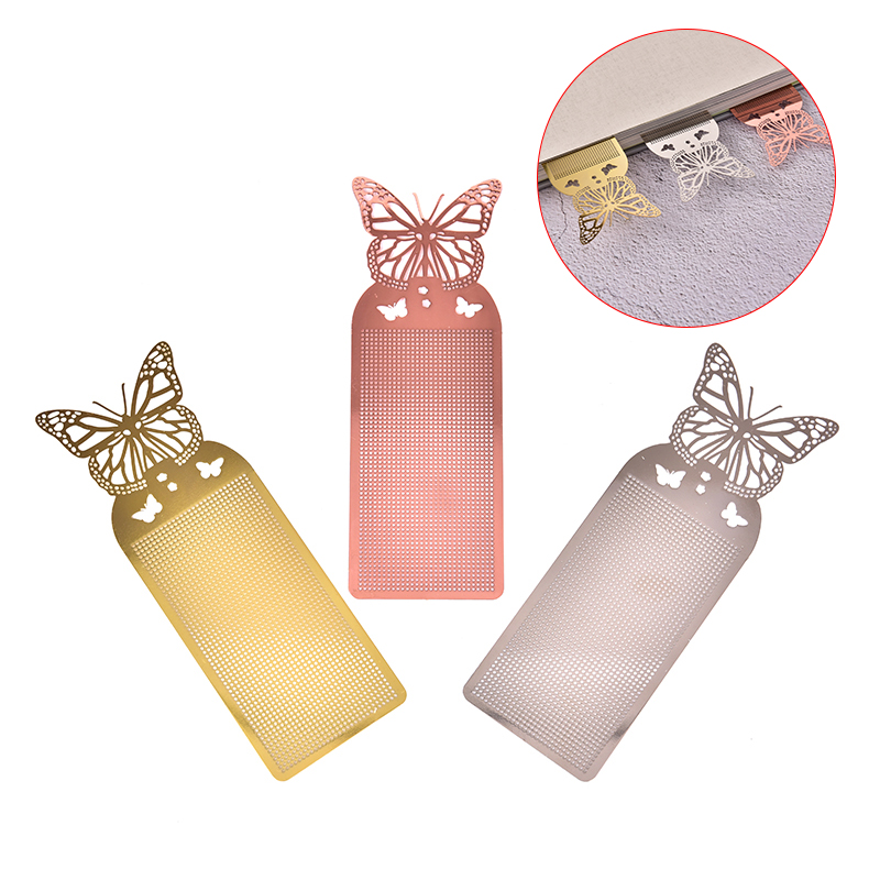 1PC Cute Butterfly Cross Stitch Metal Bookmark For Book Paper DIY Needlework Embroidery Crafts Counted Cross-Stitching Kit