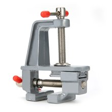 цена на Mini Aluminum Bench Vise Woodworking Table Clamp Crimping Hand Tool Table Vise Mini Locksmith Clip Small Jewelers DIY Parts