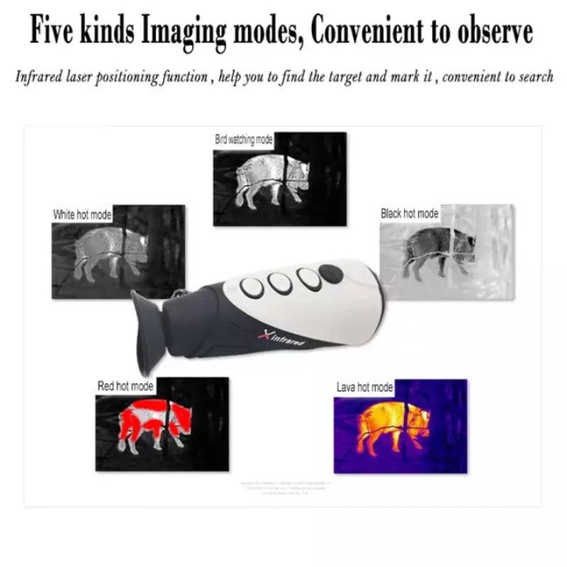 X infrarouge E2m imagerie thermique infrarouge Laser positionnement thermique Vision nocturne numérique monoculaire portable dispositif de chasse en plein air - 5