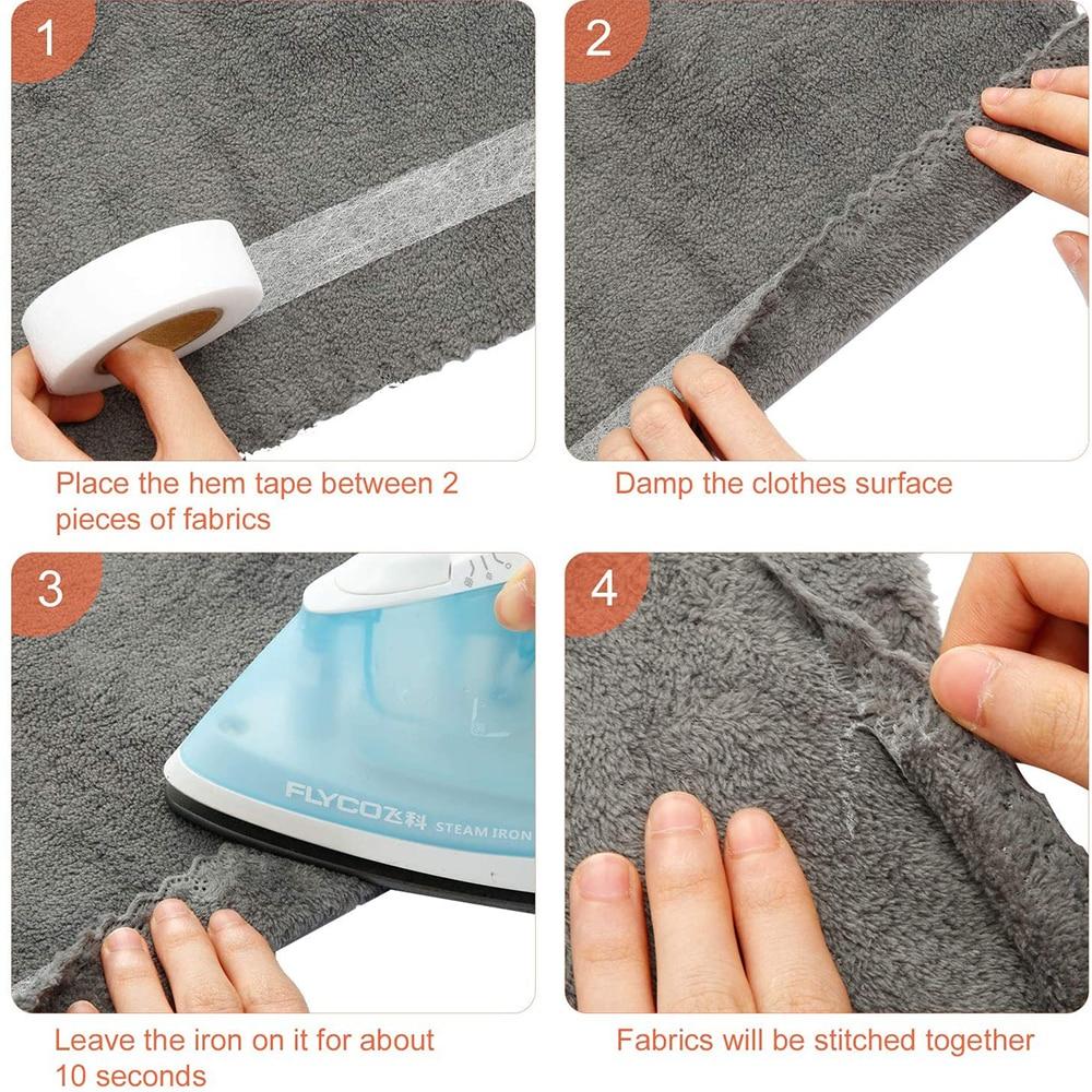 4 шт 10 м * 20 мм железная клейкая лента тканевая плавкая для