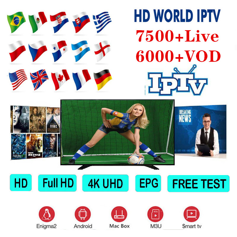 Premium HD World IPTV Spain M3U Italy Dutch France Portugal Germany UK For Android Box TV Smart IPTV Subscription Xtream Codes