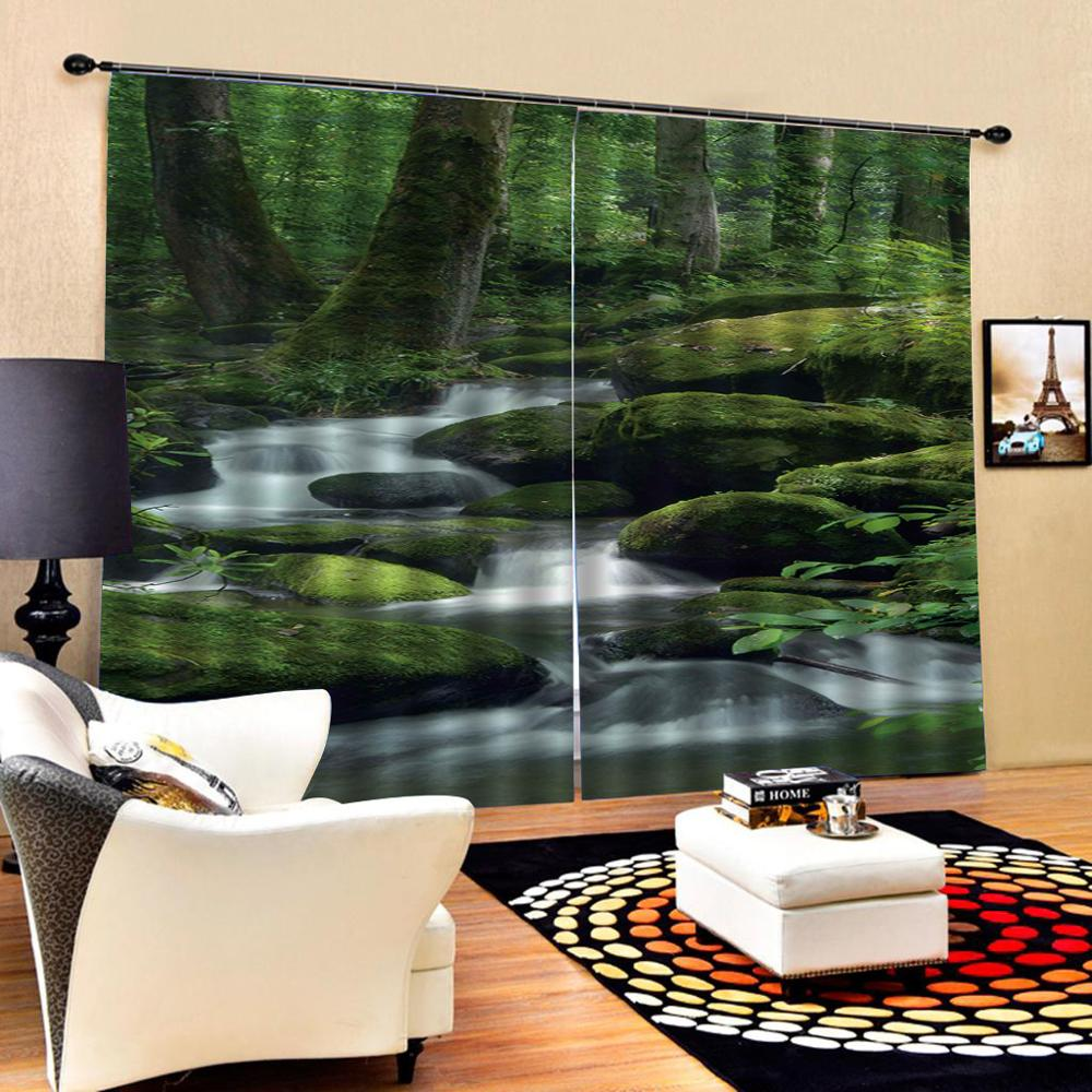 Nature scenery curtains 3D Curtain Luxury Blackout Window Curtain Living Room Decoration curtains