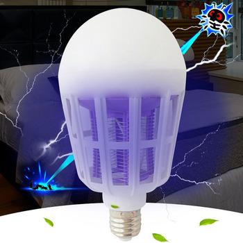 110V 220V żarówka UV LED lampa przeciw komarom 12W 15W 2W 1 pułapka na komary lampa E27 żarówka muchy robaki Zapper lampka nocna lampara tanie i dobre opinie ZIHADA 20-25 square meter 25 Mosquito Killer Bulb 110-240 v 50000 12W 15W insect killer