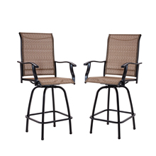 Outdoor Swivel Bar Stools All-Weather Tall Patio Chair Camping Picnic Chairs Textilene Mesh Chairs Garden Furniture cheap Solid Color 51cm*60cm*131cm OUTCHA01 Garden Chair Europe And America Rattan Wicker Outdoor Furniture China