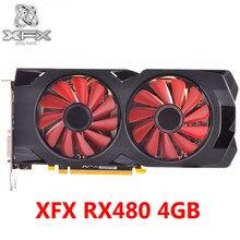 Original XFX RX 480 4GB Grafikkarten 256Bit GDDR5 RX480-4GB Video Karten für AMD RX 400 serie VGA RX480 4GB RX 480 HDMI Verwendet